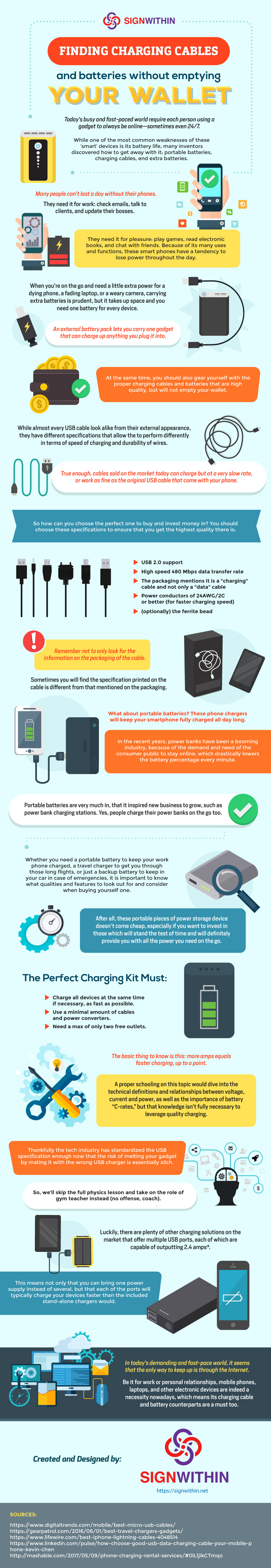 How To Find Charging Cables And Batteries Without Emptying Your Wallet