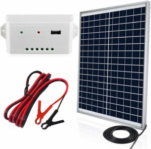 ECO WORTHY 20W 12V IP65 Solar Panel Kit